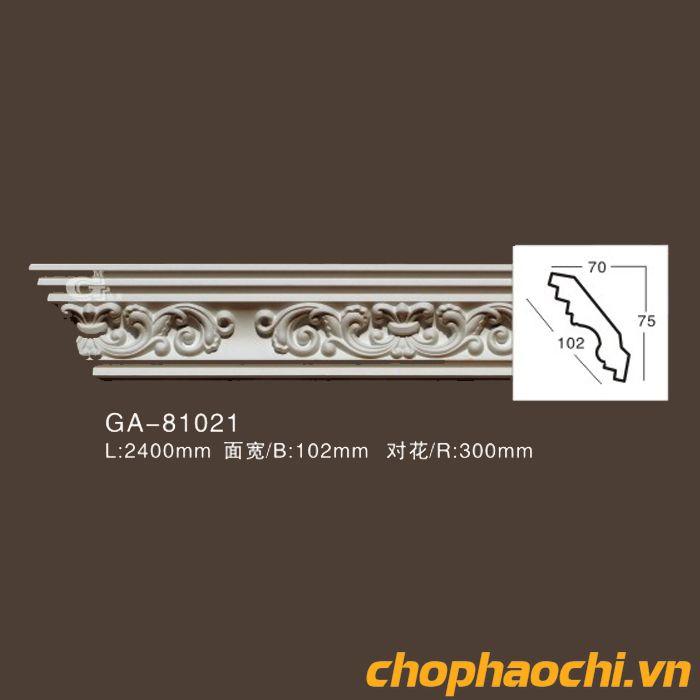 Phào cổ trần hoa văn PU - GA-81021